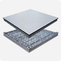 铝合金防静电地板正、fanmian
