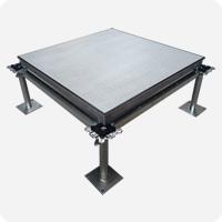 铝合金防静电地板组zhuang图