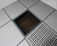 全钢防静电活动地板与透明架空地板zuhe